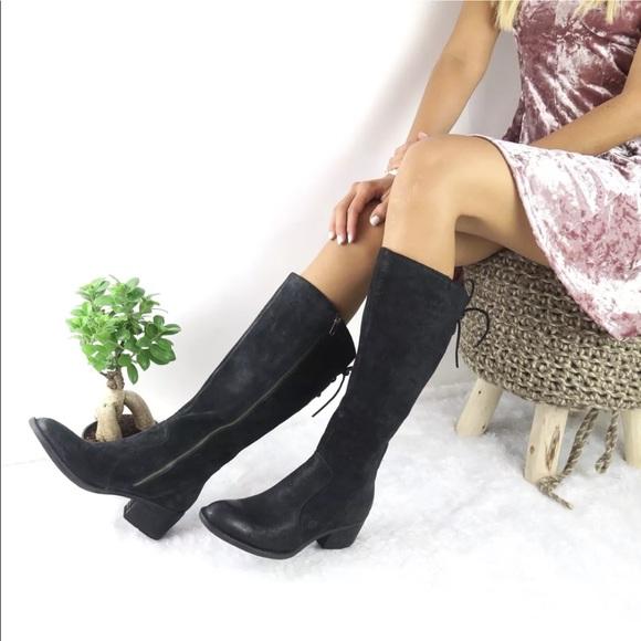 9eddb519158e Born Women s Black Leather  Felicia  Winter Boots